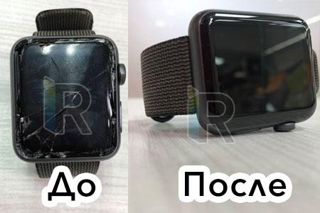 замена стекла на часах apple watch 3 серия